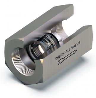 universal high pressure check valve U1